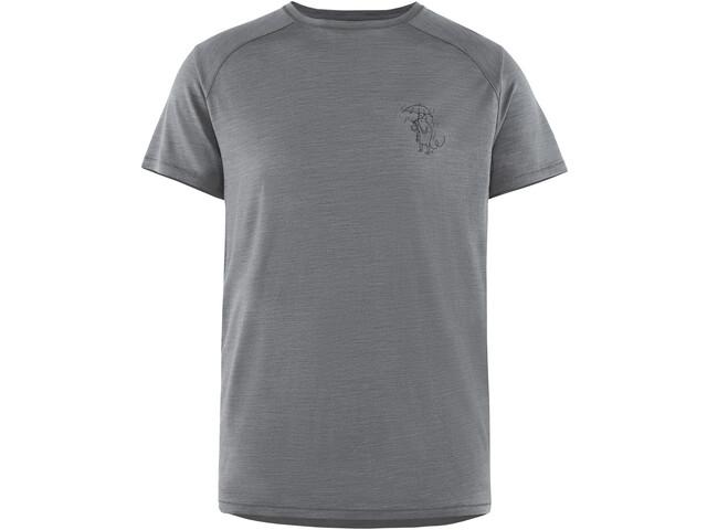 Klättermusen Eir Rain T-shirt Homme, grey melange